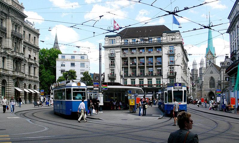 Oplev Zürich med tog