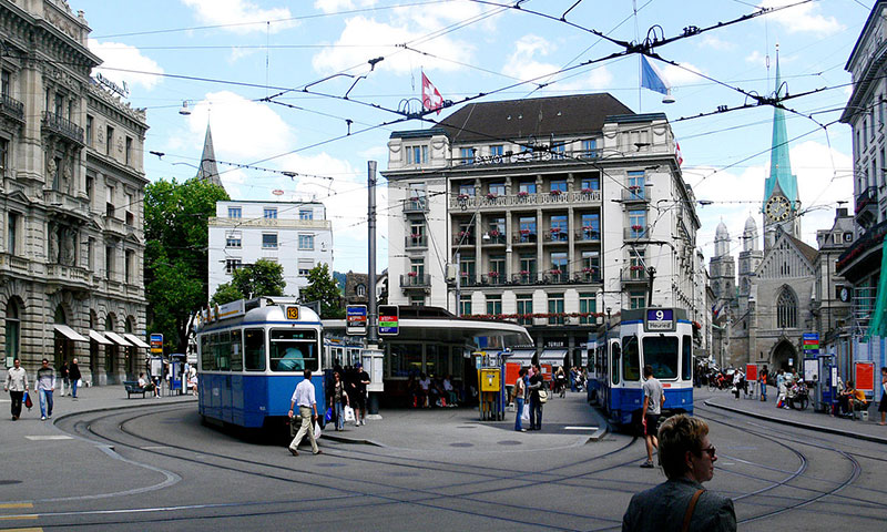 Interrail vesteuropa og Zürich