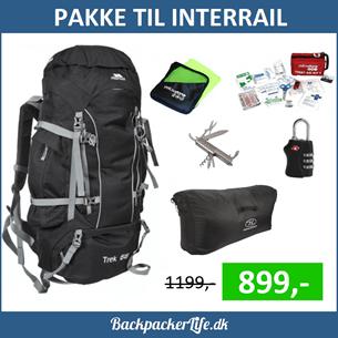 Backpacker rygsæk til rejsen