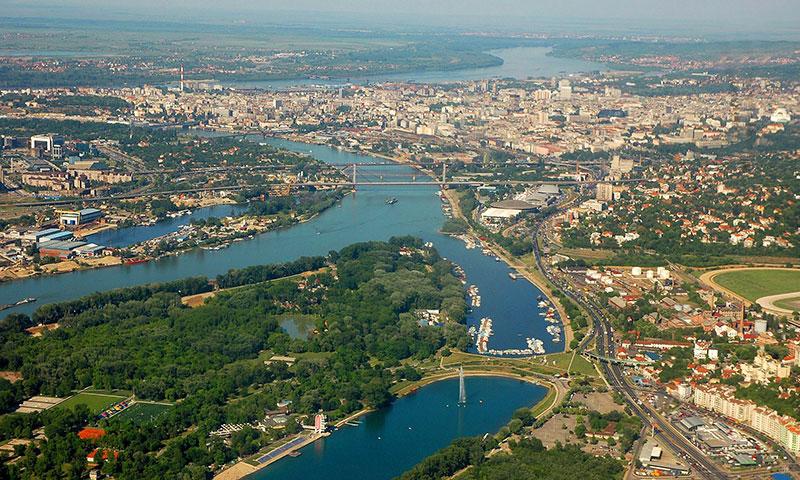 Interrail rute til Beograd