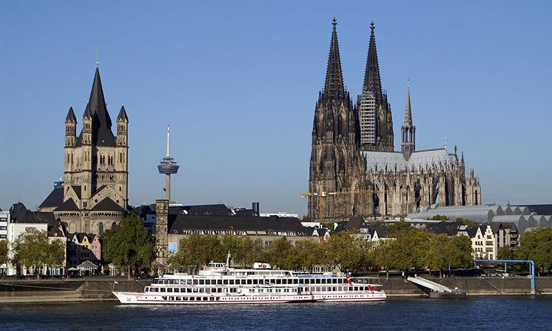 interrail rute gennem Köln