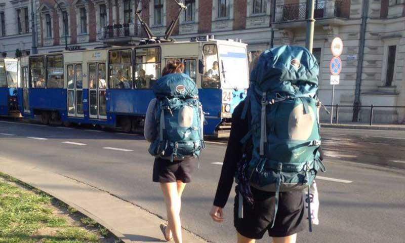 studerende på interrail