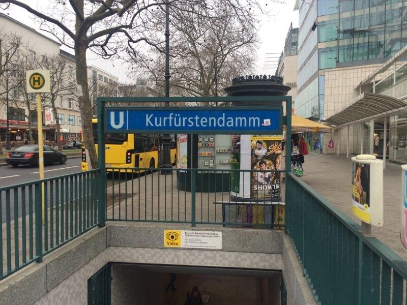 Kurfürstendamm Station interrail