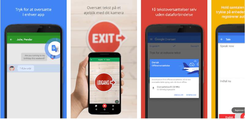 Google translate app til interrail