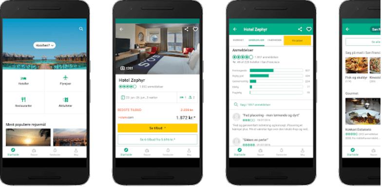 Tridadvisor en app til rejsende