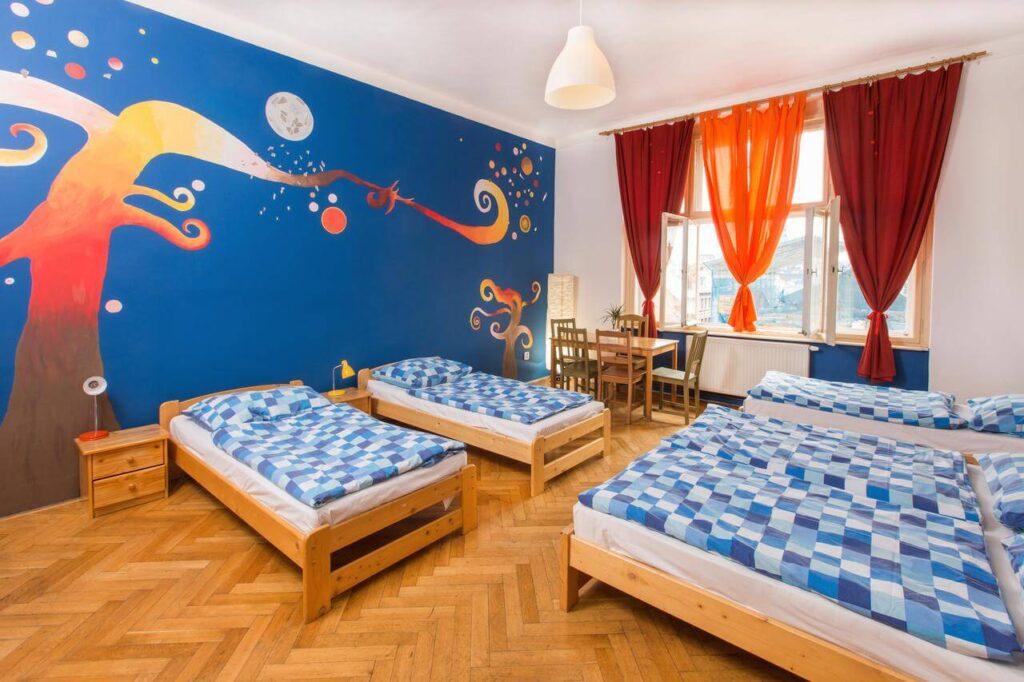 Værelse på Hostel Down Town i Prag