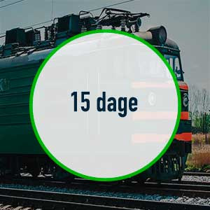 Interrail Global Pass – 15 dages gyldighed