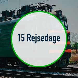 Interrail Global Pass – 15 rejsedage – 2 måneders gyldighed