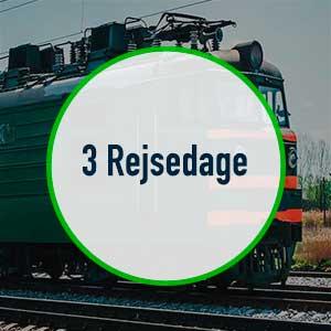 Interrail Global Pass – 3 rejsedage – 30 dages gyldighed