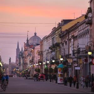Togrejse til Lodz