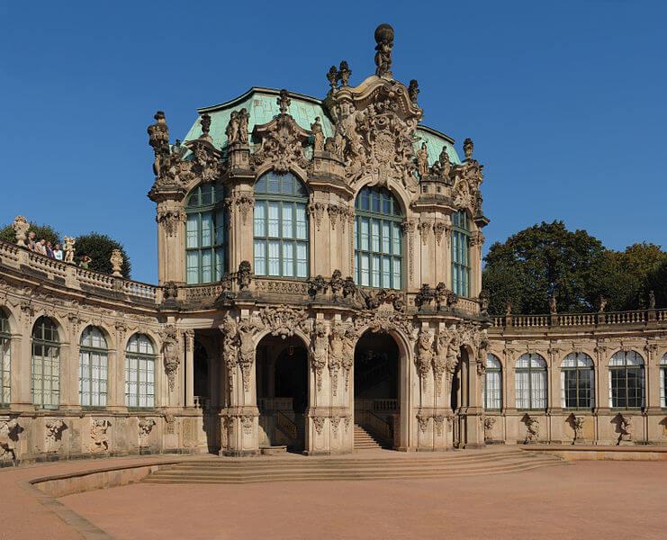 Zwinger i Dresden museum